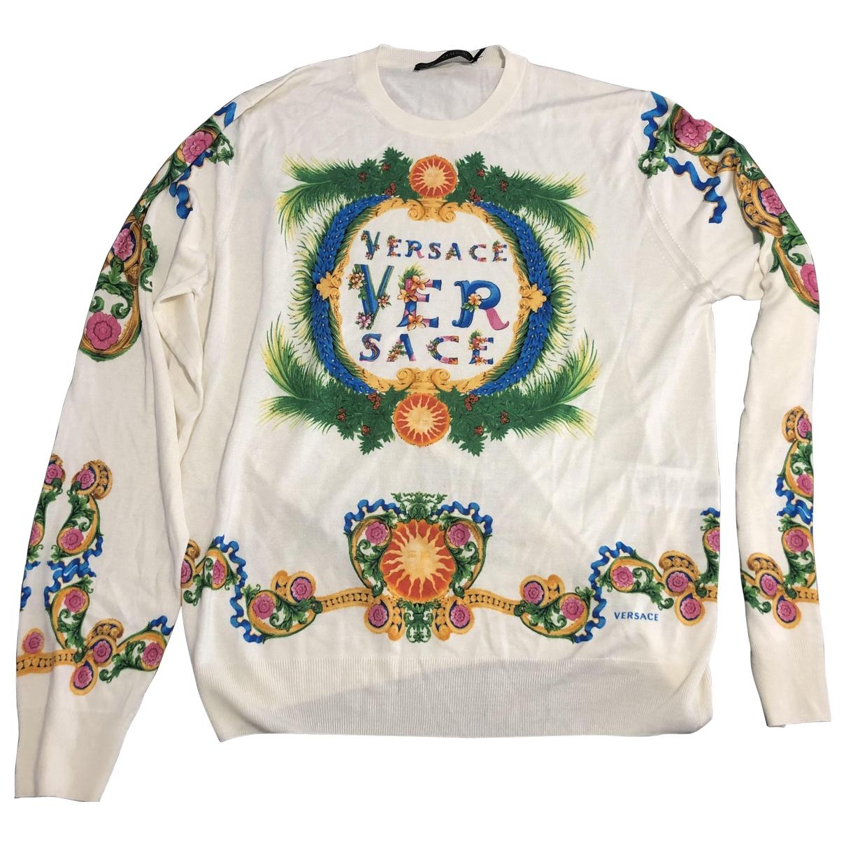 Versace \N Pullover.Westen.Sweatshirts  in  Weiss Seide