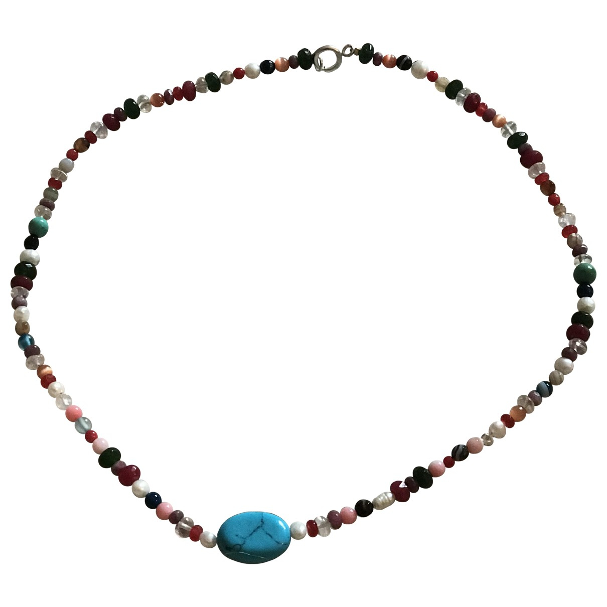 Non Signé / Unsigned Turquoises Multicolour Pearls necklace for Women \N