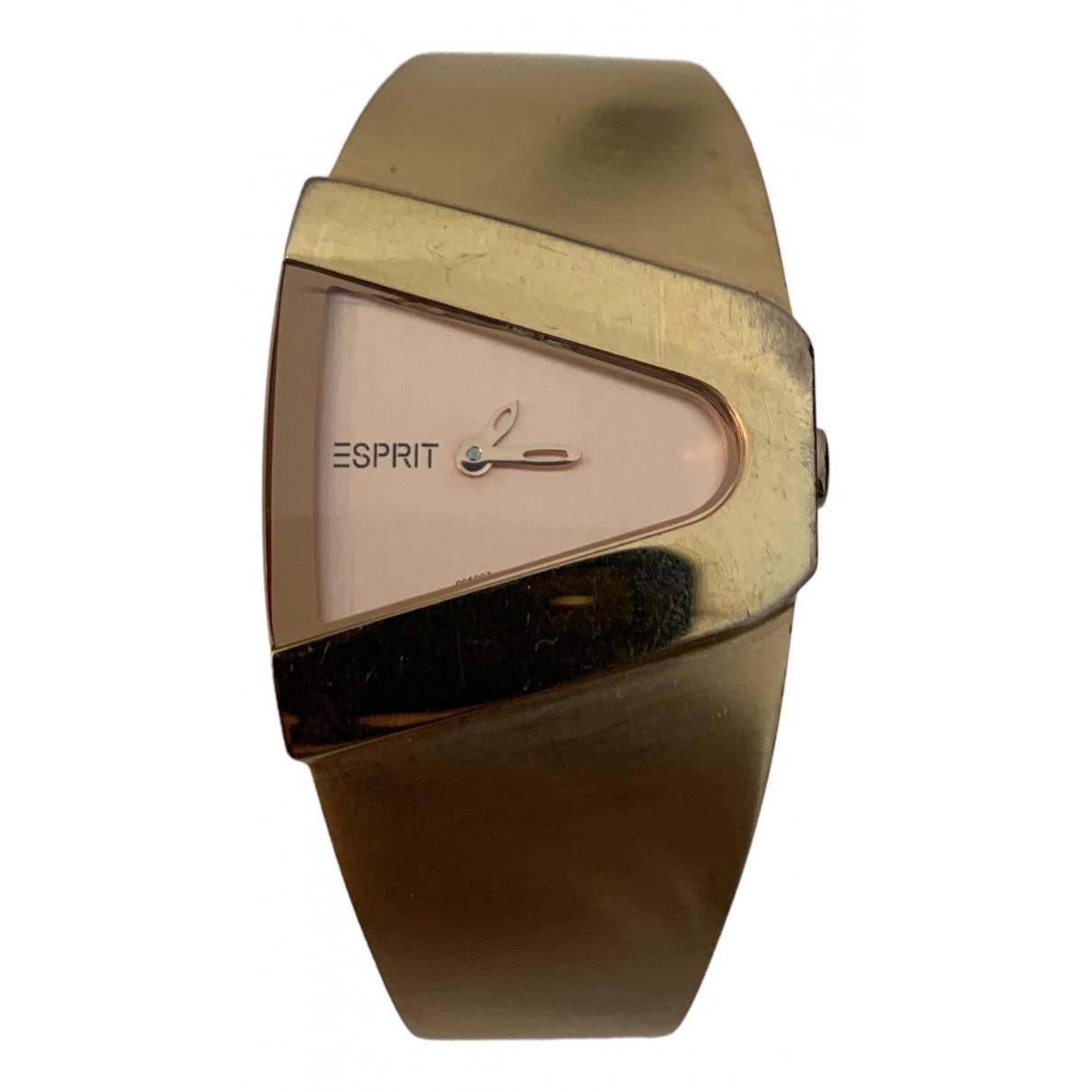 Esprit \N Uhr in  Metallic Stahl