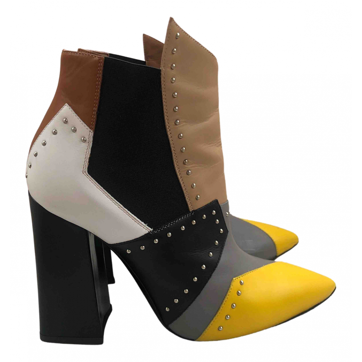 Pollini N Multicolour Leather Ankle boots for Women 36 EU
