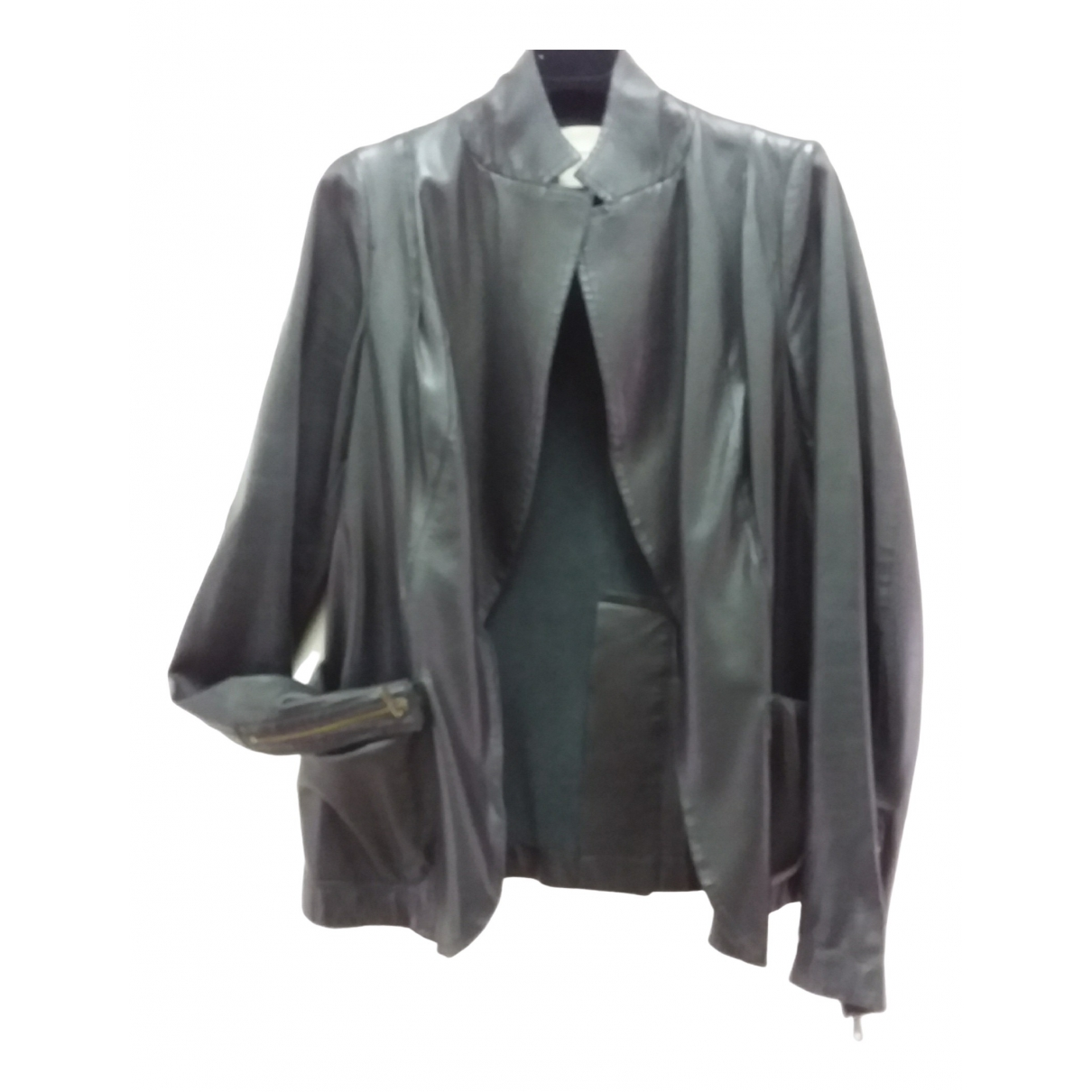 Costume National \N Black Leather jacket for Women 42 IT