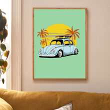 Car Print Wall Painting Without Frame