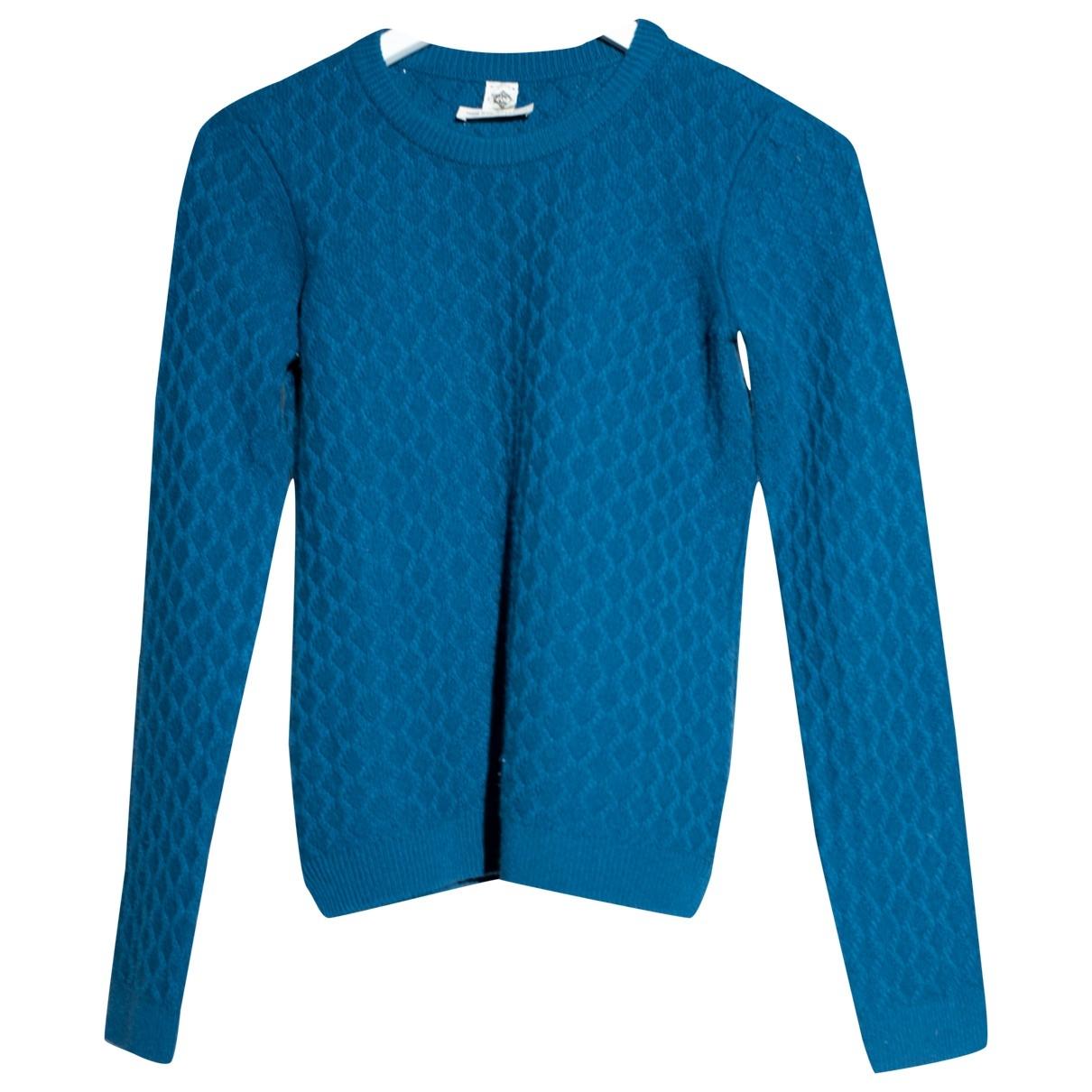 Hermes \N Pullover in  Blau Kaschmir