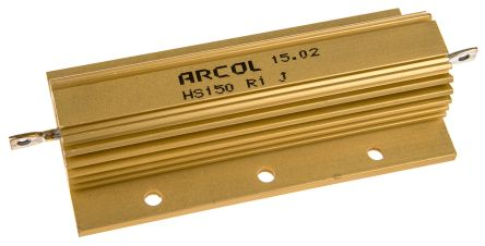 Arcol HS150 Series Aluminium Housed Axial Wire Wound Panel Mount Resistor, 100mΩ ±5% 150W