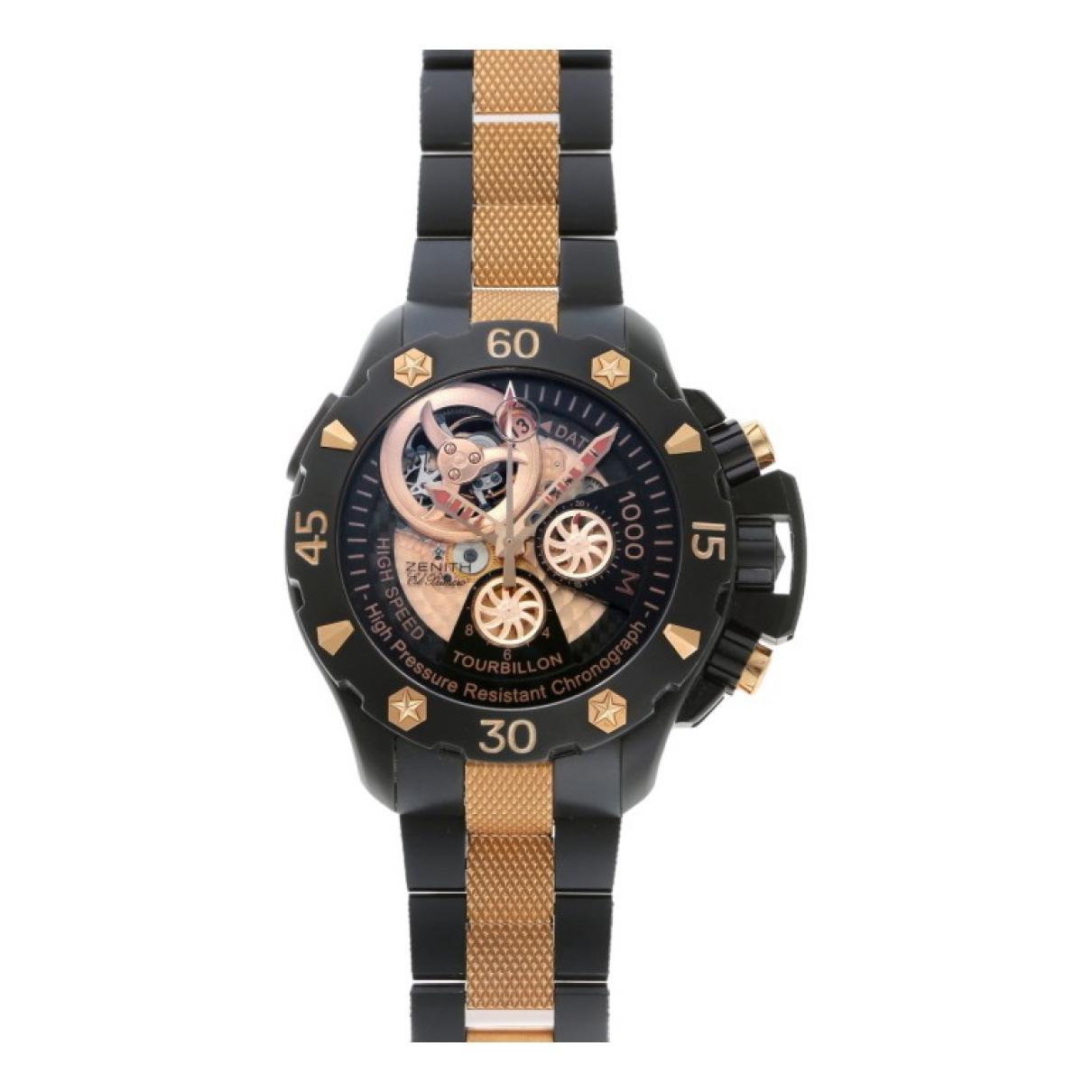 Zenith \N Uhr in  Schwarz Titan