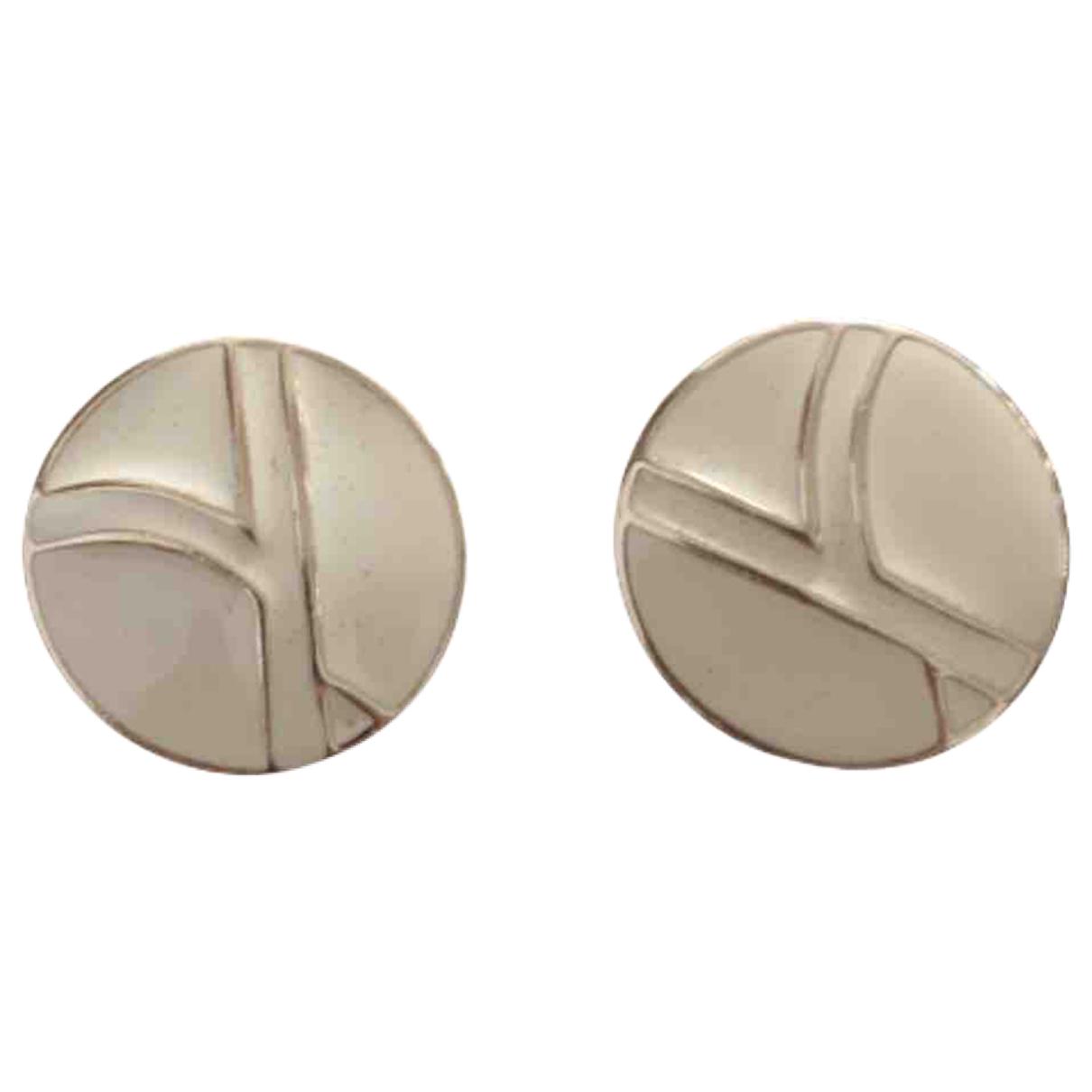 Trifari N Beige Metal Earrings for Women N