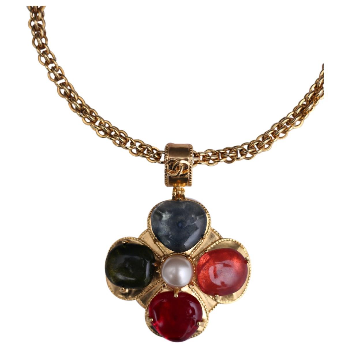 Chanel Baroque Kette in  Bunt Metall