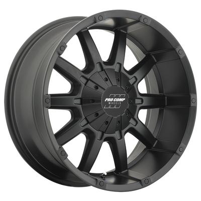 Pro Comp 50 Series 10 Gauge, 20x9 Wheel with 6 on 5.5 and 6 on 135 Bolt Pattern - Satin Black - 5050-293945