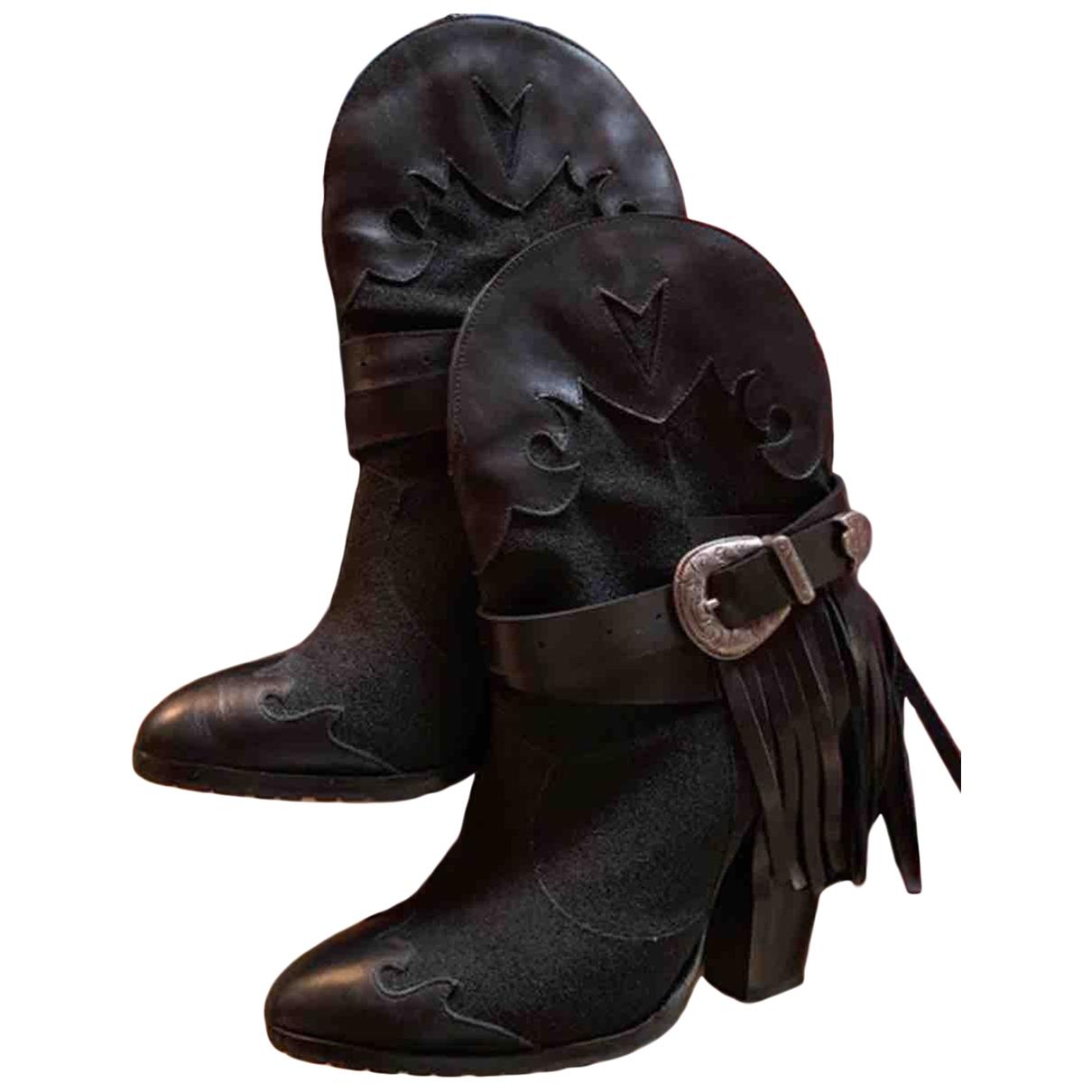 Inga - Bottes   pour femme en cuir - noir