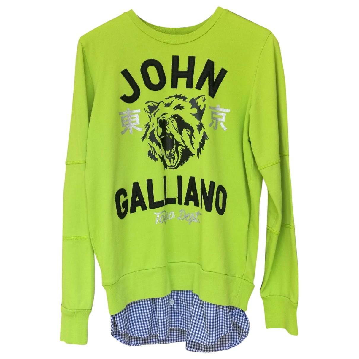 John Galliano - Pull   pour enfant en coton - vert