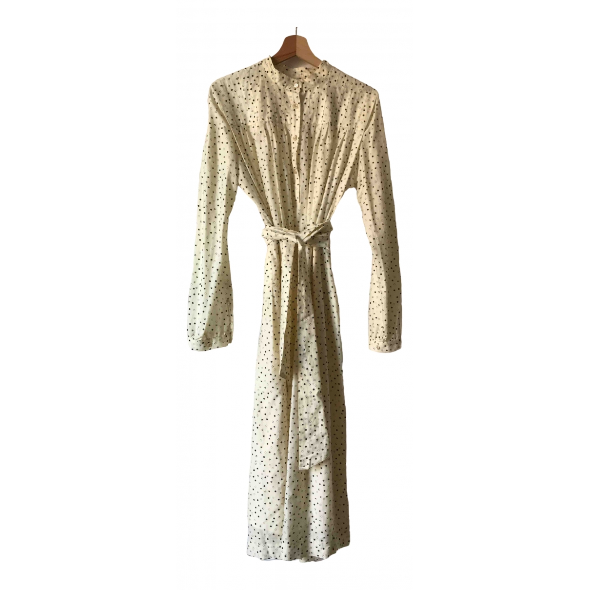 Vanessa Seward \N Kleid in  Beige Baumwolle