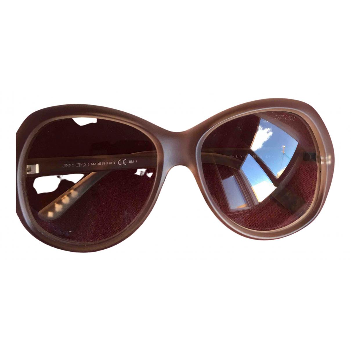 Jimmy Choo \N Sonnenbrillen in  Beige Kunststoff