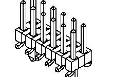 Molex , 87759, 16 Way, 2 Row, Vertical PCB Header (33)