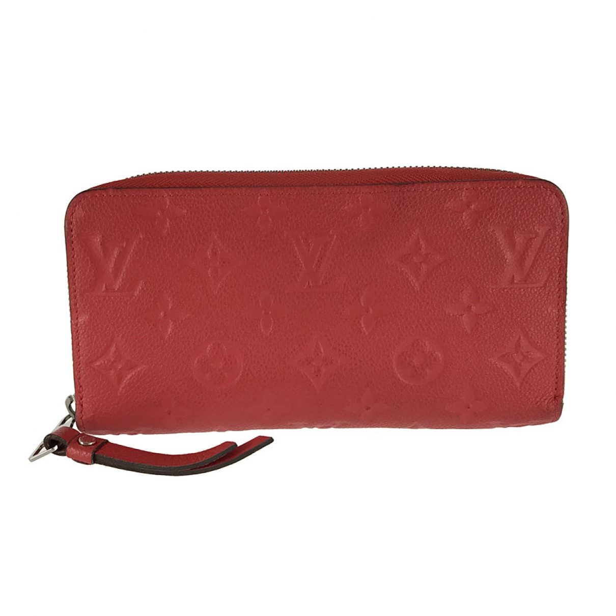 Louis Vuitton Zippy Portemonnaie in  Rot Leder