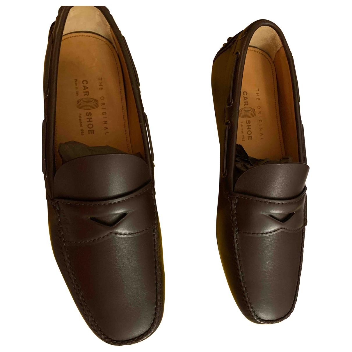 Carshoe - Mocassins   pour homme en cuir - marron