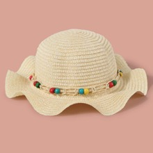 Toddler Girls Bead Straw Hat