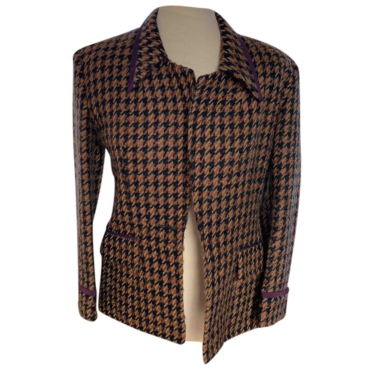 Dior N Brown Wool coat for Women 4 US