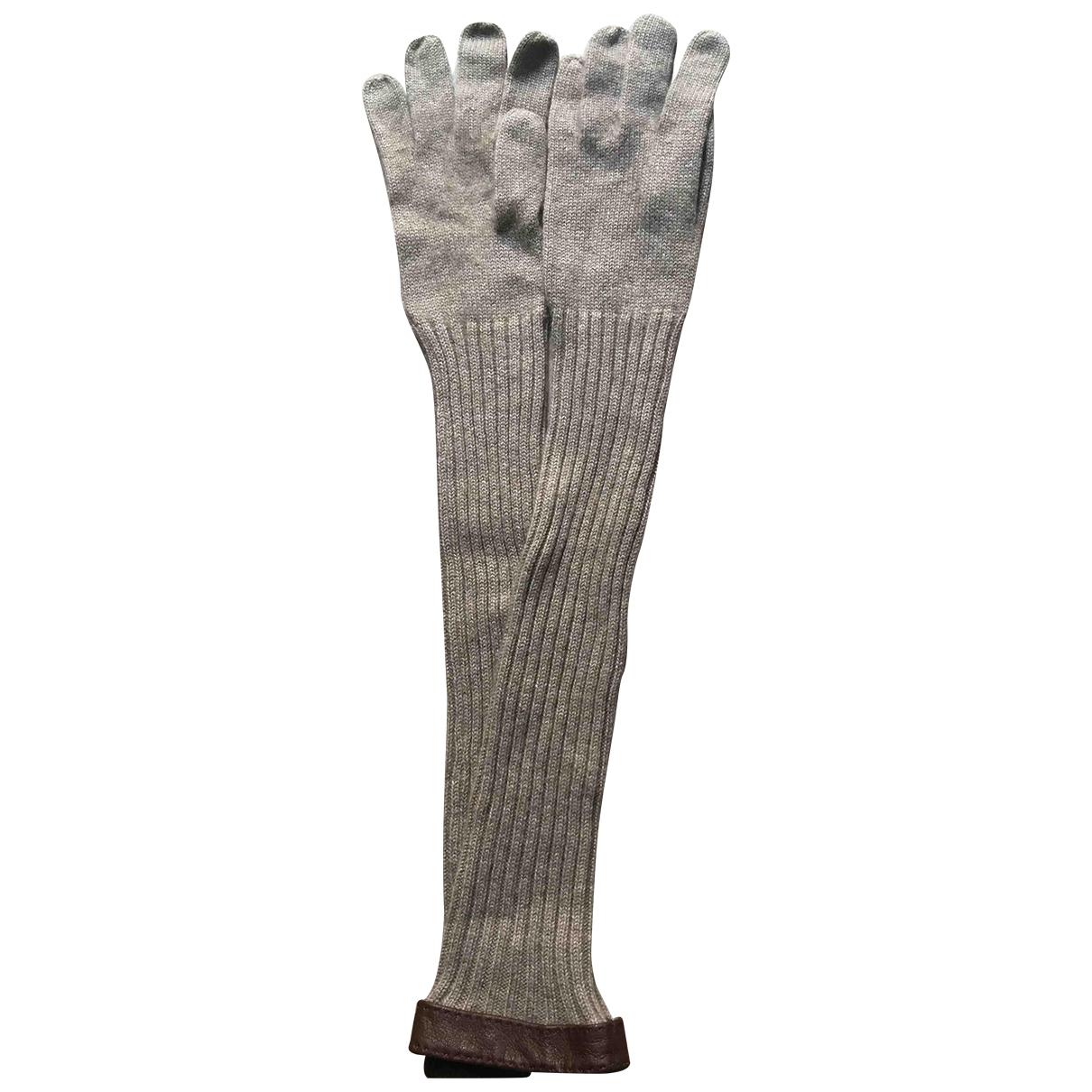 Ballantyne \N Beige Cashmere Gloves for Women M International