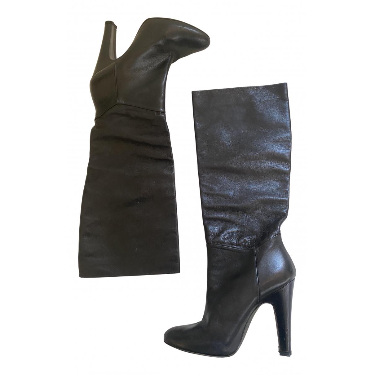 Pedro Garcia N Black Leather Boots for Women 36 EU