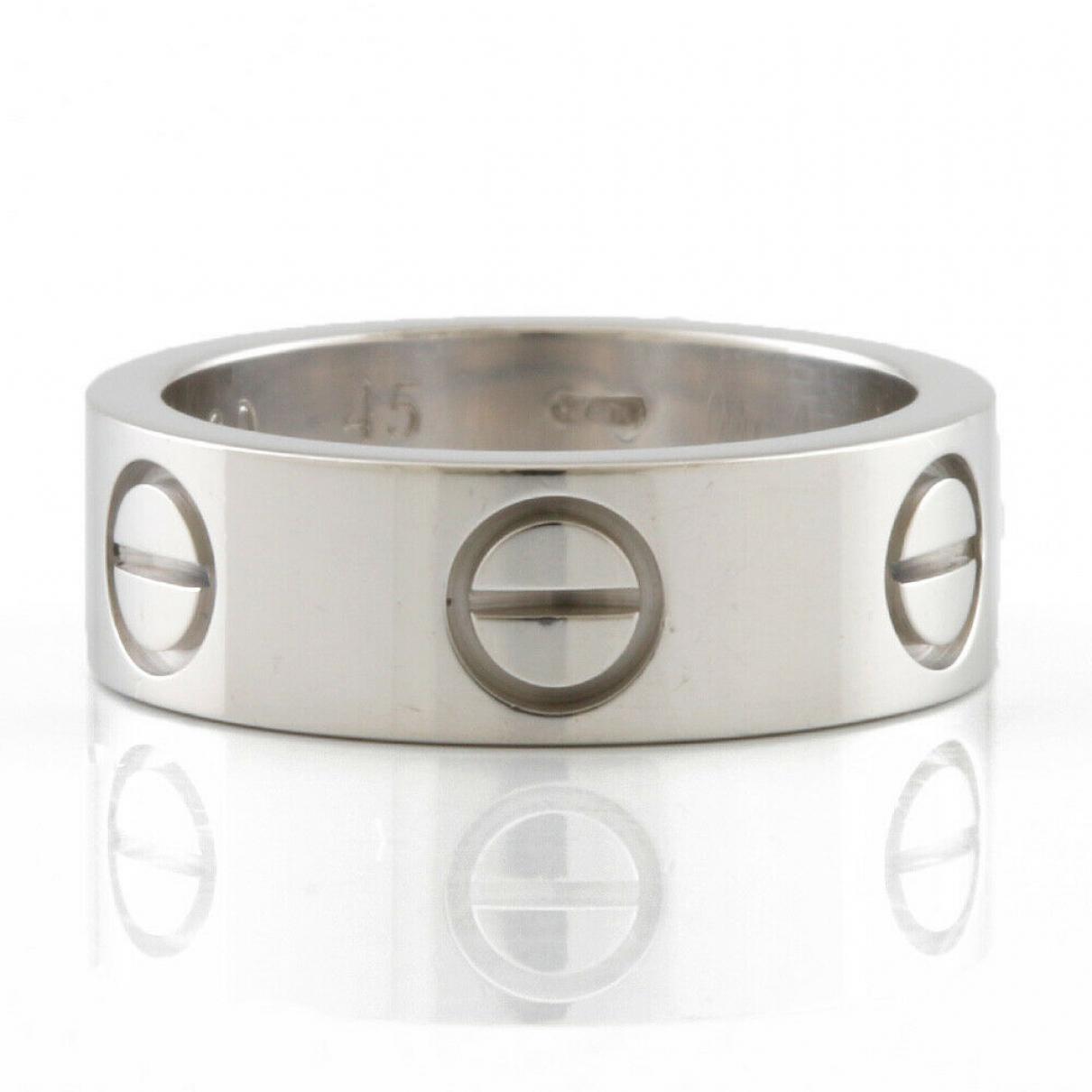 Cartier N Silver White gold ring for Women 45 EU