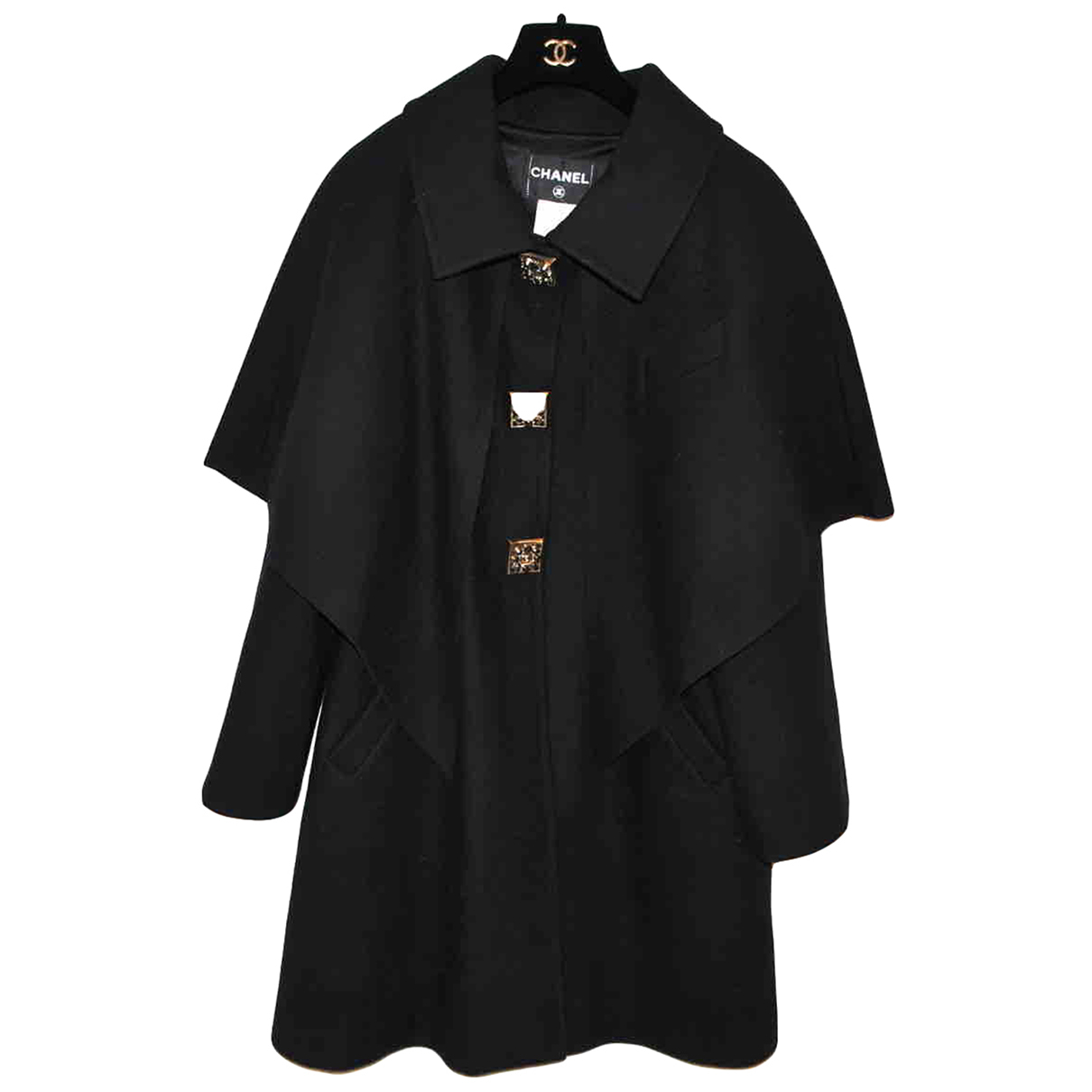 Chanel N Black Wool coat for Women 42 FR