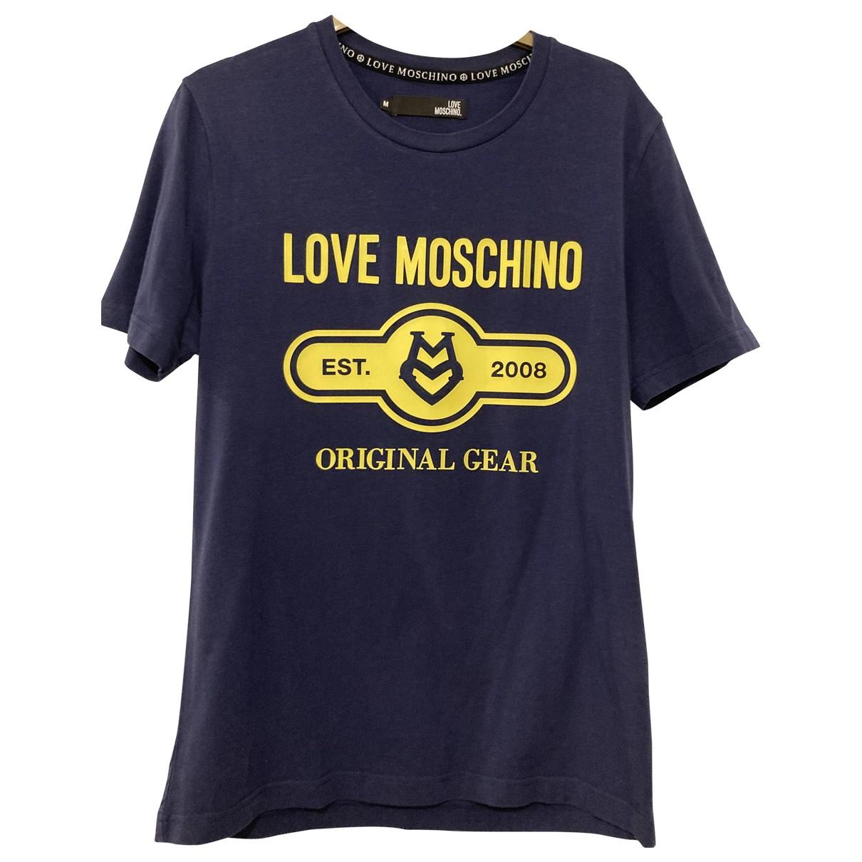 Moschino Love \N Blue Cotton T-shirts for Men M International