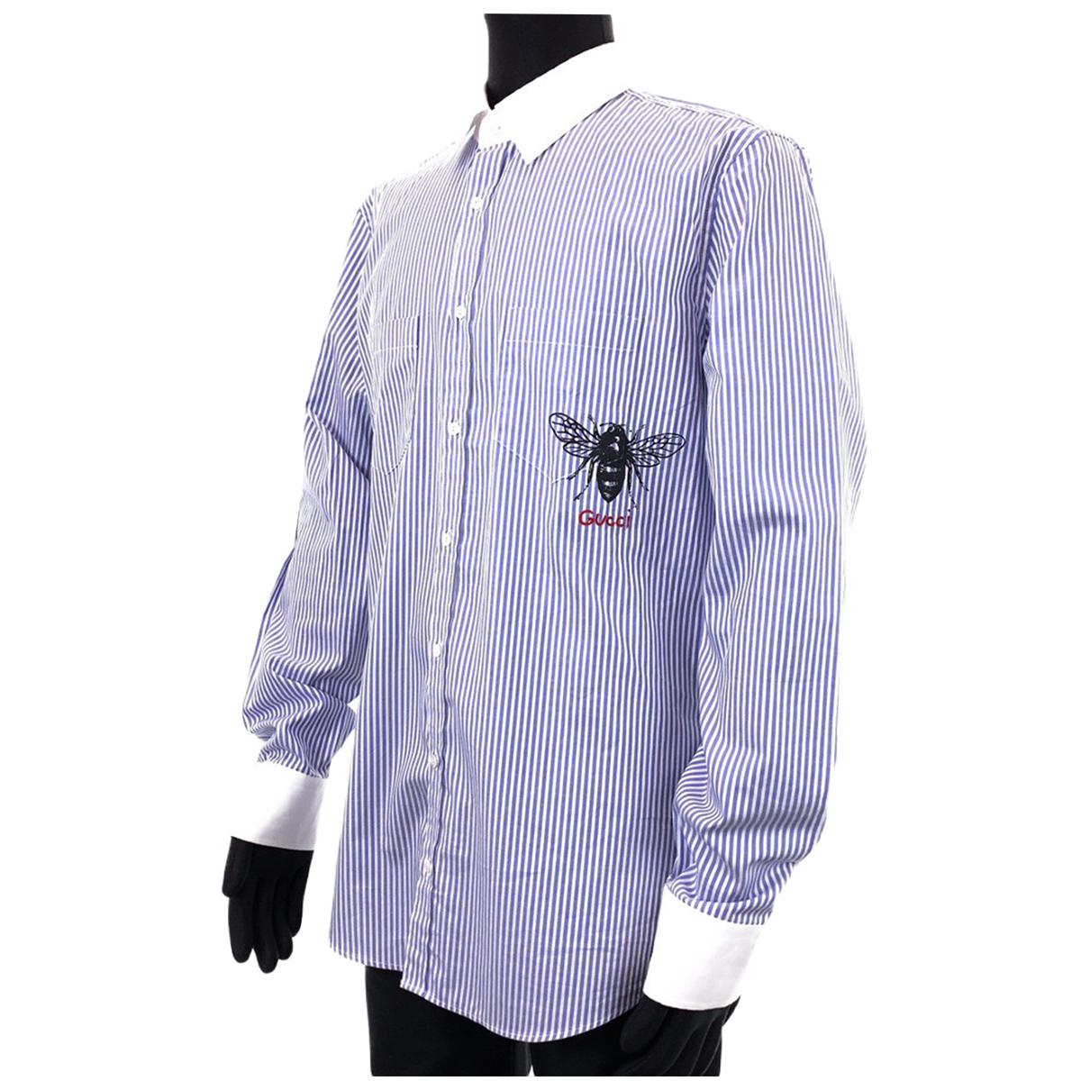 Gucci - Tee shirts   pour homme en coton - violet