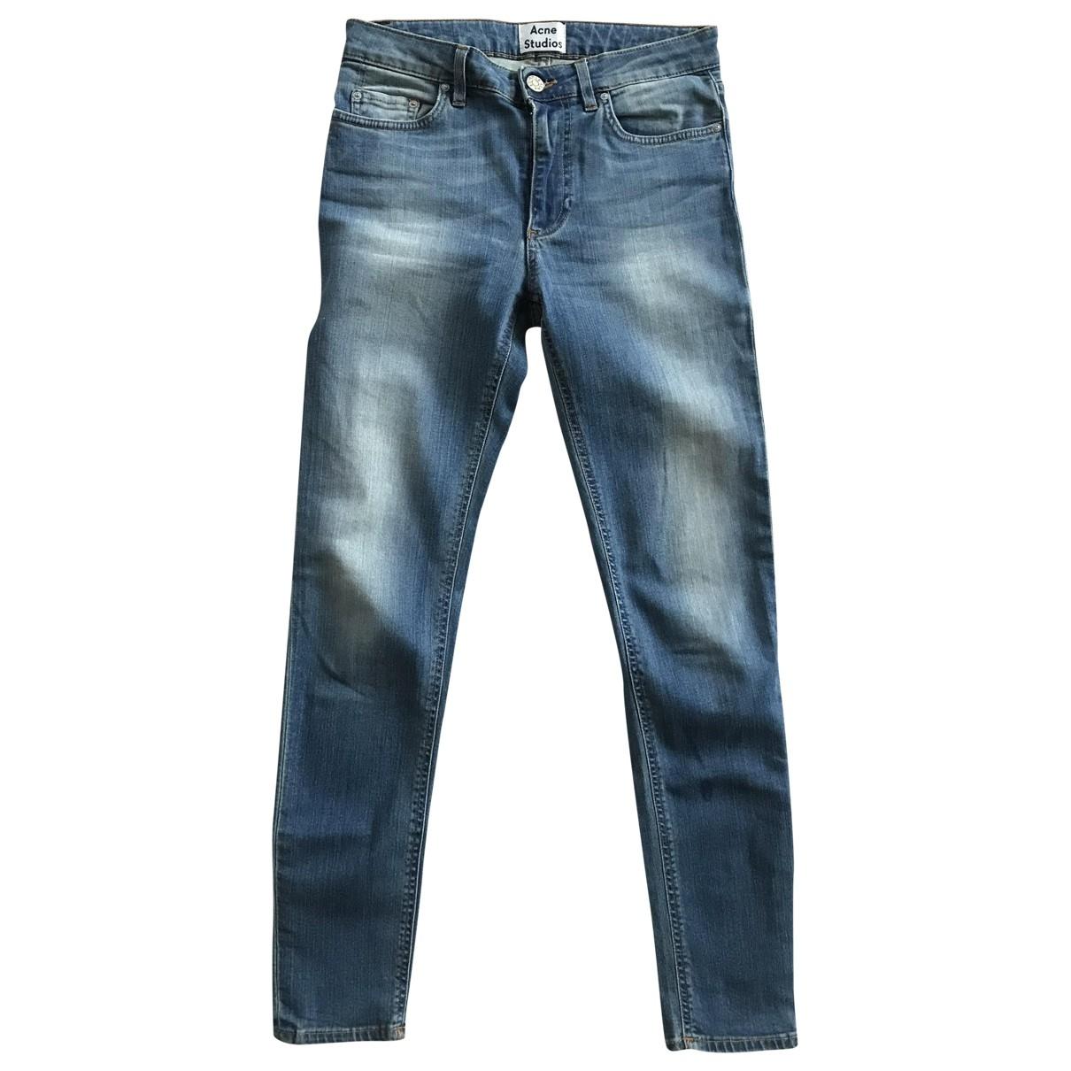 Acne Studios Skin 5 Blue Cotton - elasthane Jeans for Women 26 US