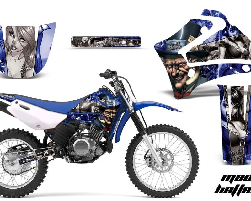 AMR Racing Dirt Bike Graphics Kit MX Decal Wrap For Yamaha TTR125LE 2000-2007áHATTER SILVER BLUE