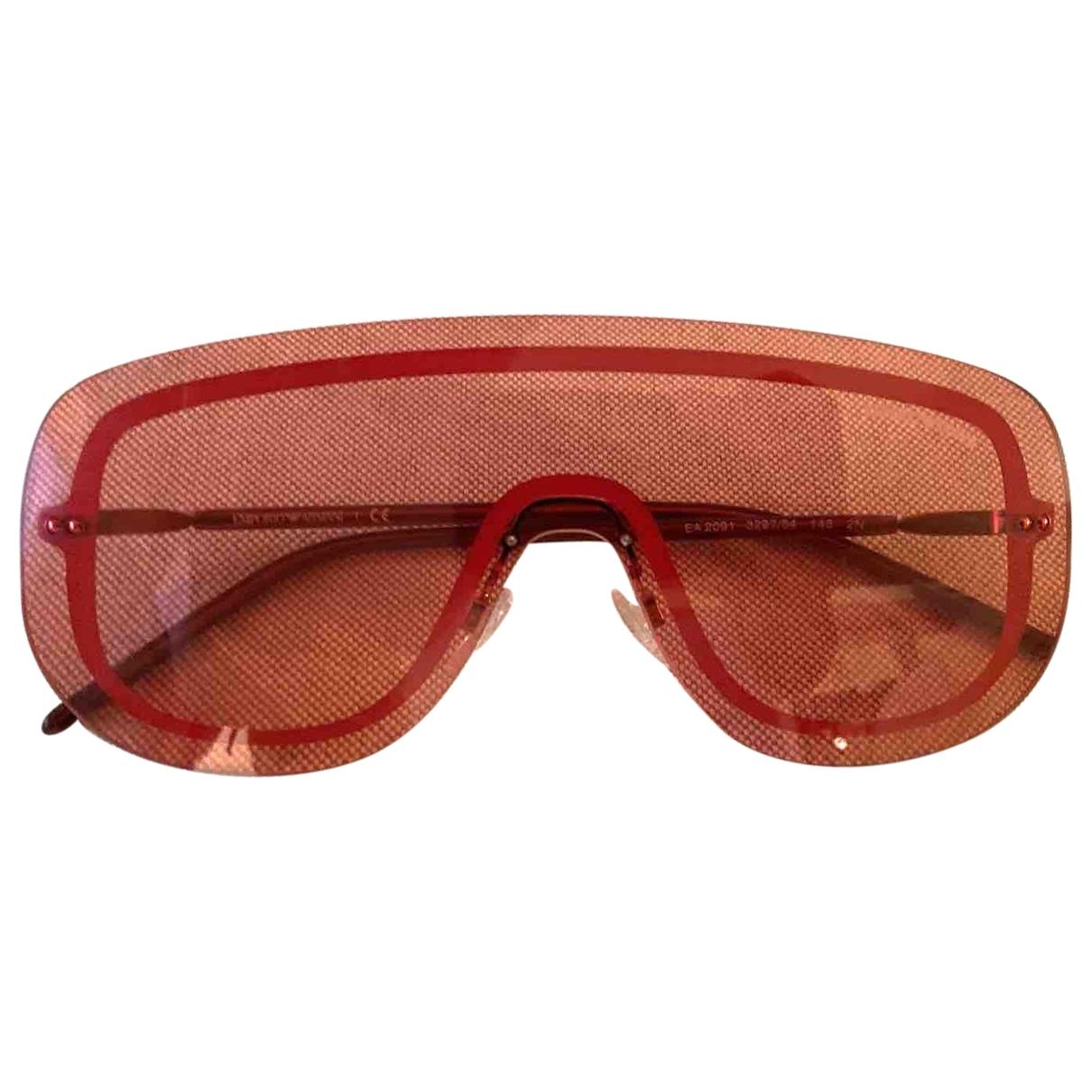 Emporio Armani - Lunettes   pour femme en metal - rouge