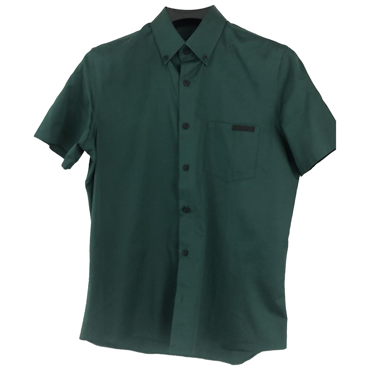 Prada \N Hemden in  Gruen Baumwolle
