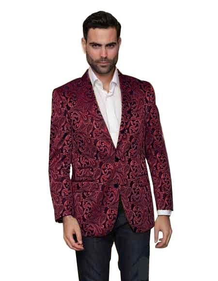 Alberto Nardoni Shiny Matching Fashion Bow Tie Sport Coat Burgu