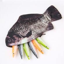 1 pieza estuche con diseño de pez
