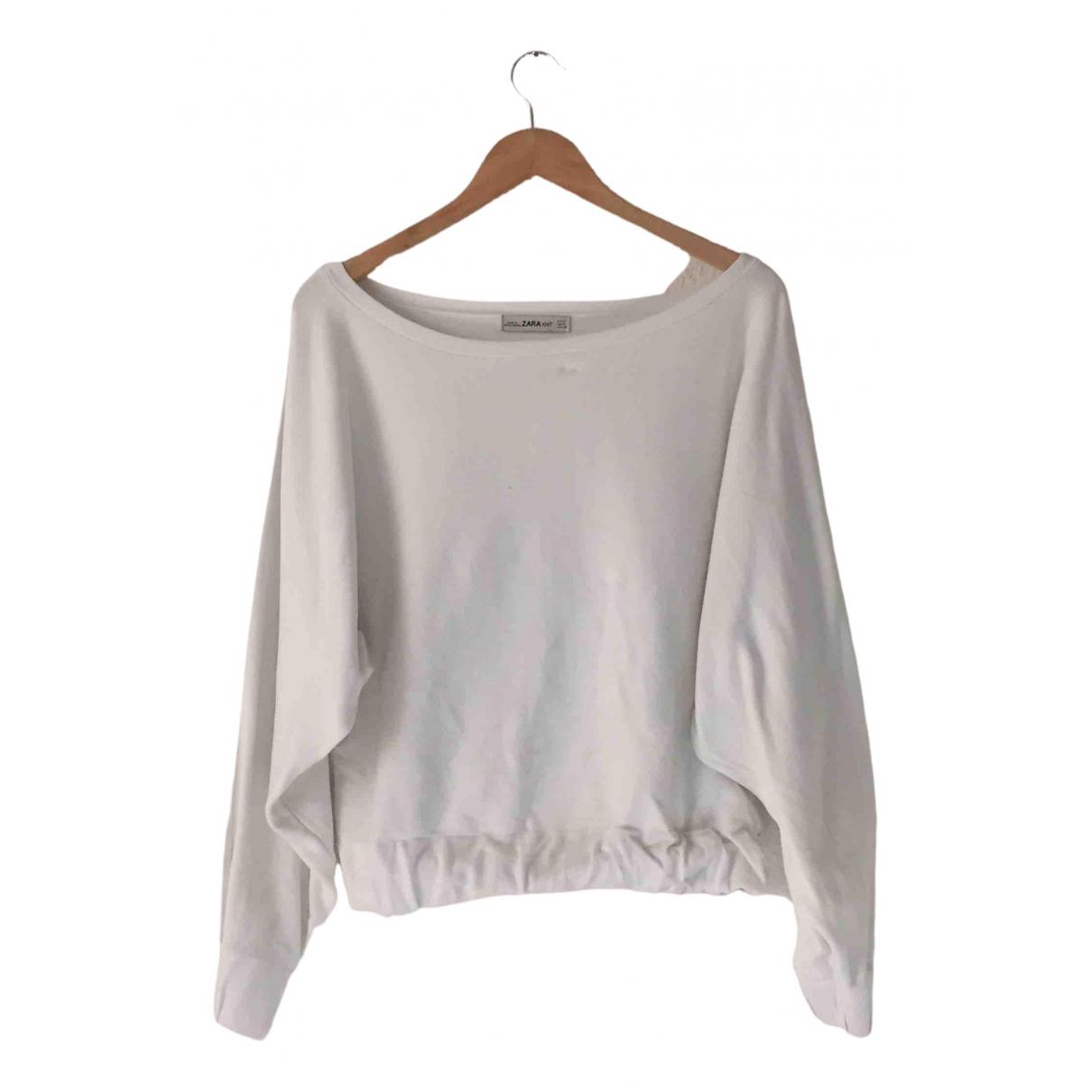Zara - Pull   pour femme - blanc