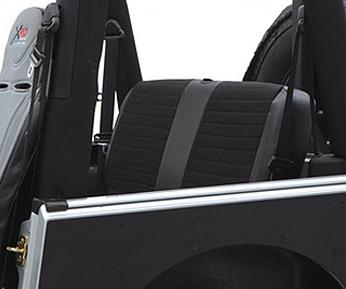 XRC Seat Cover Rear 80-95 Wrangler YJ/CJ Black/Black Center Smittybilt