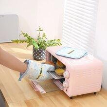 1 pieza guante con estampado con 1 pieza almohadilla