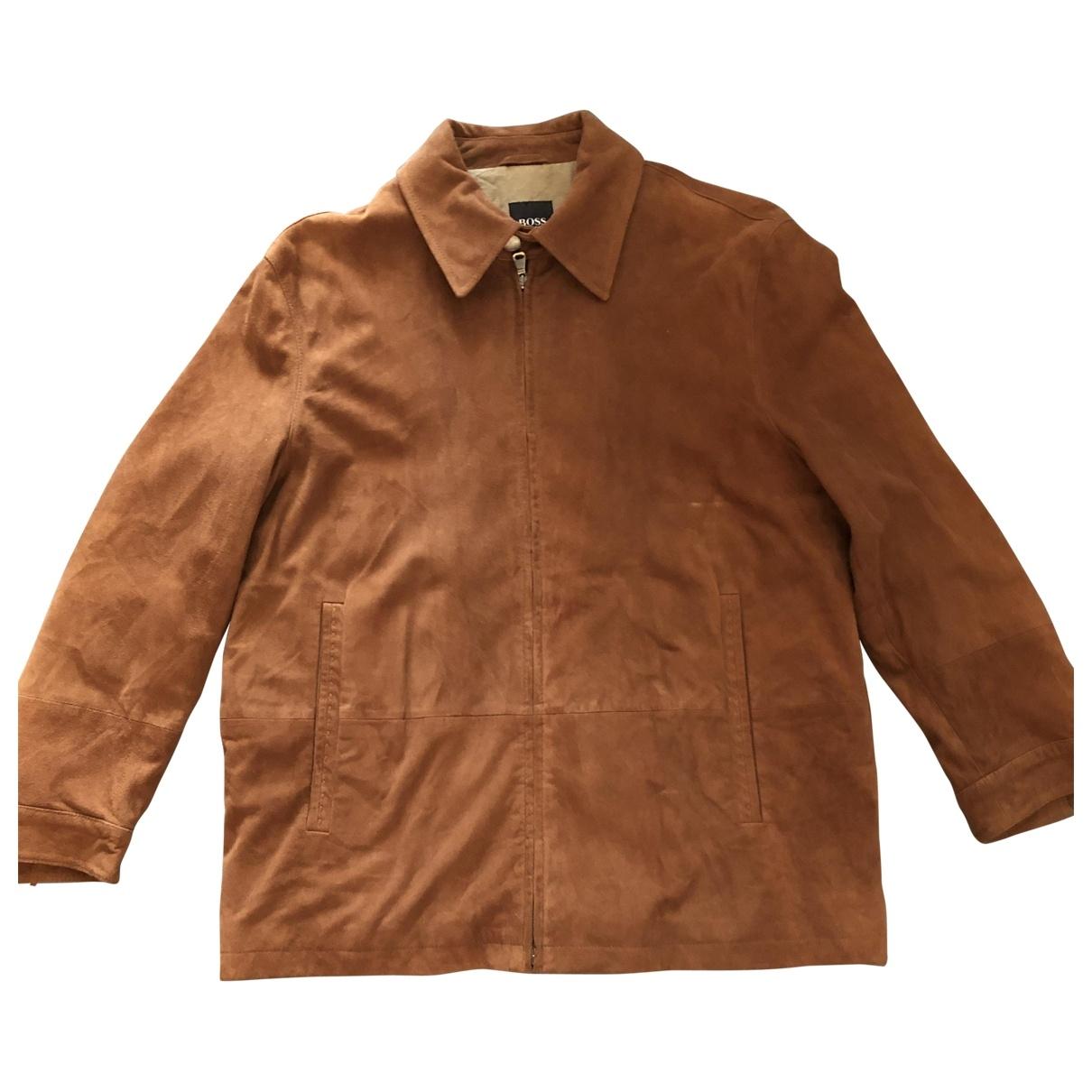 Hugo Boss \N Camel Leather jacket  for Men 52 IT
