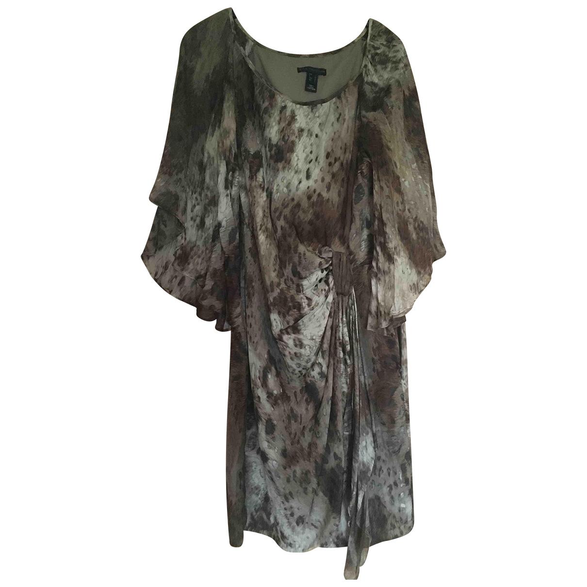 Mango \N Kleid in  Beige Polyester