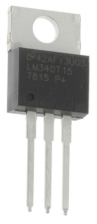Texas Instruments , 15 V Linear Voltage Regulator, 1A, 1-Channel, ±2% 3-Pin, TO-220 LM340T-15/NOPB (5)