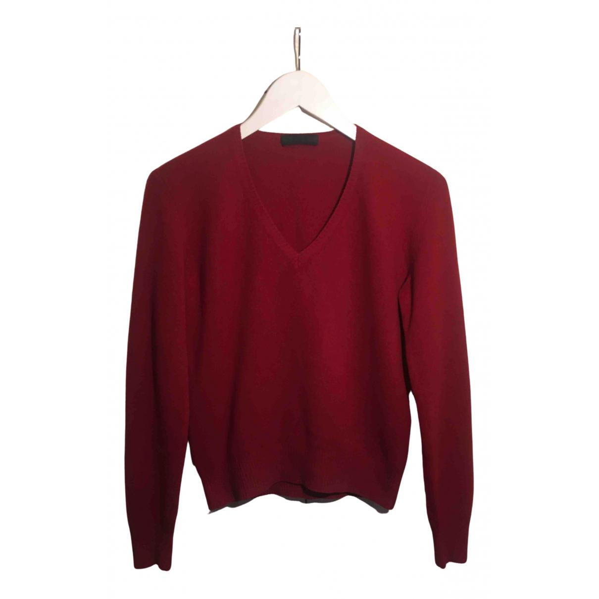 Prada N Red Wool Knitwear for Women 44 IT