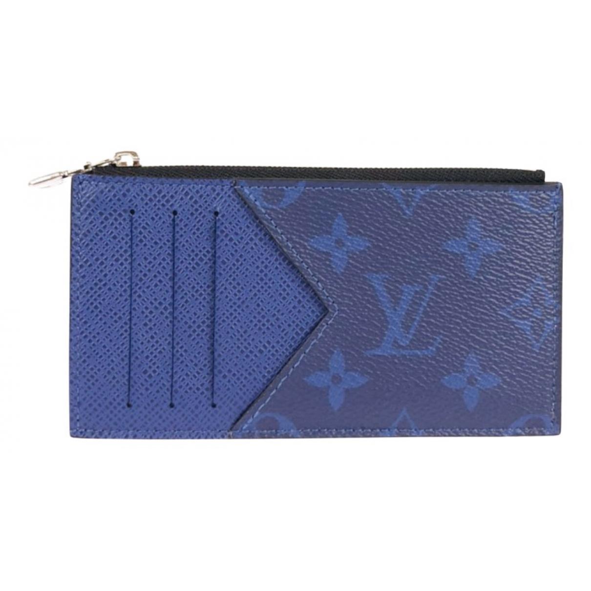 Marroquineria  Coin Card Holder de Lona Louis Vuitton