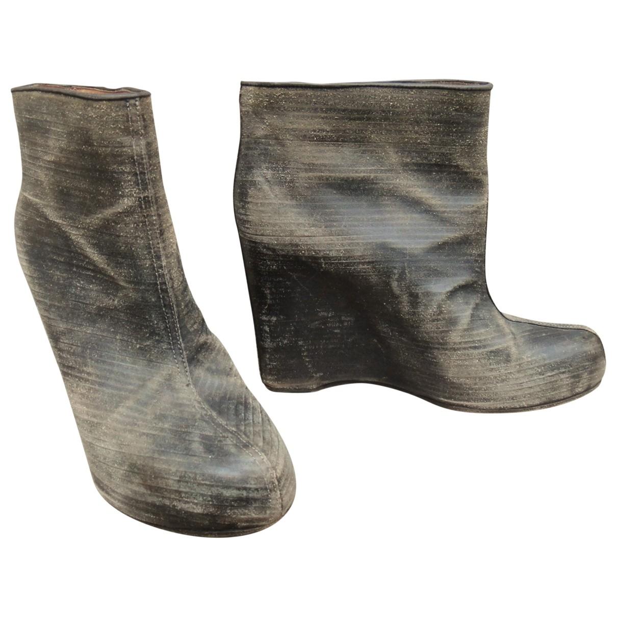 Maison Martin Margiela - Boots   pour femme en cuir - gris