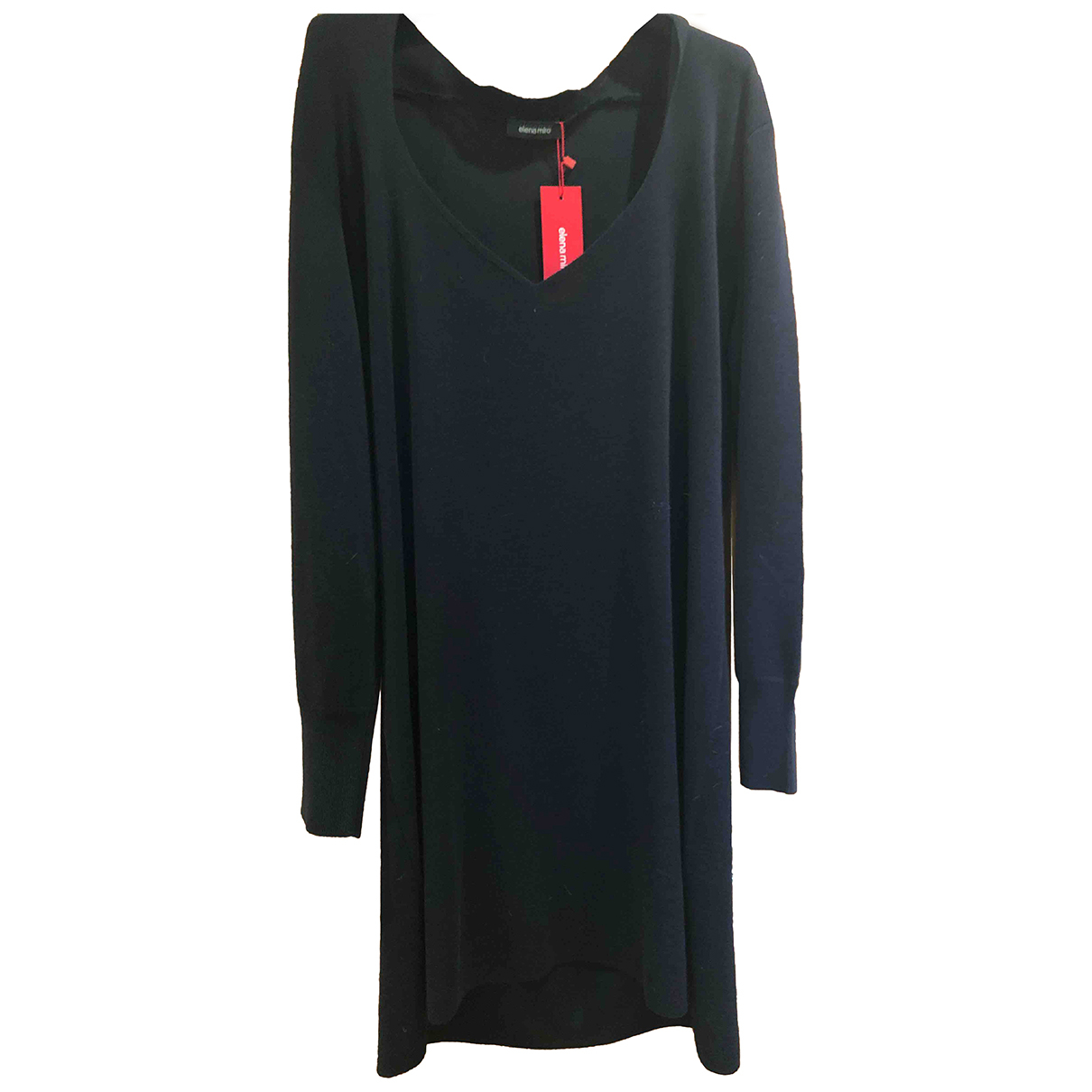 Elena Miro - Robe   pour femme en laine - bleu