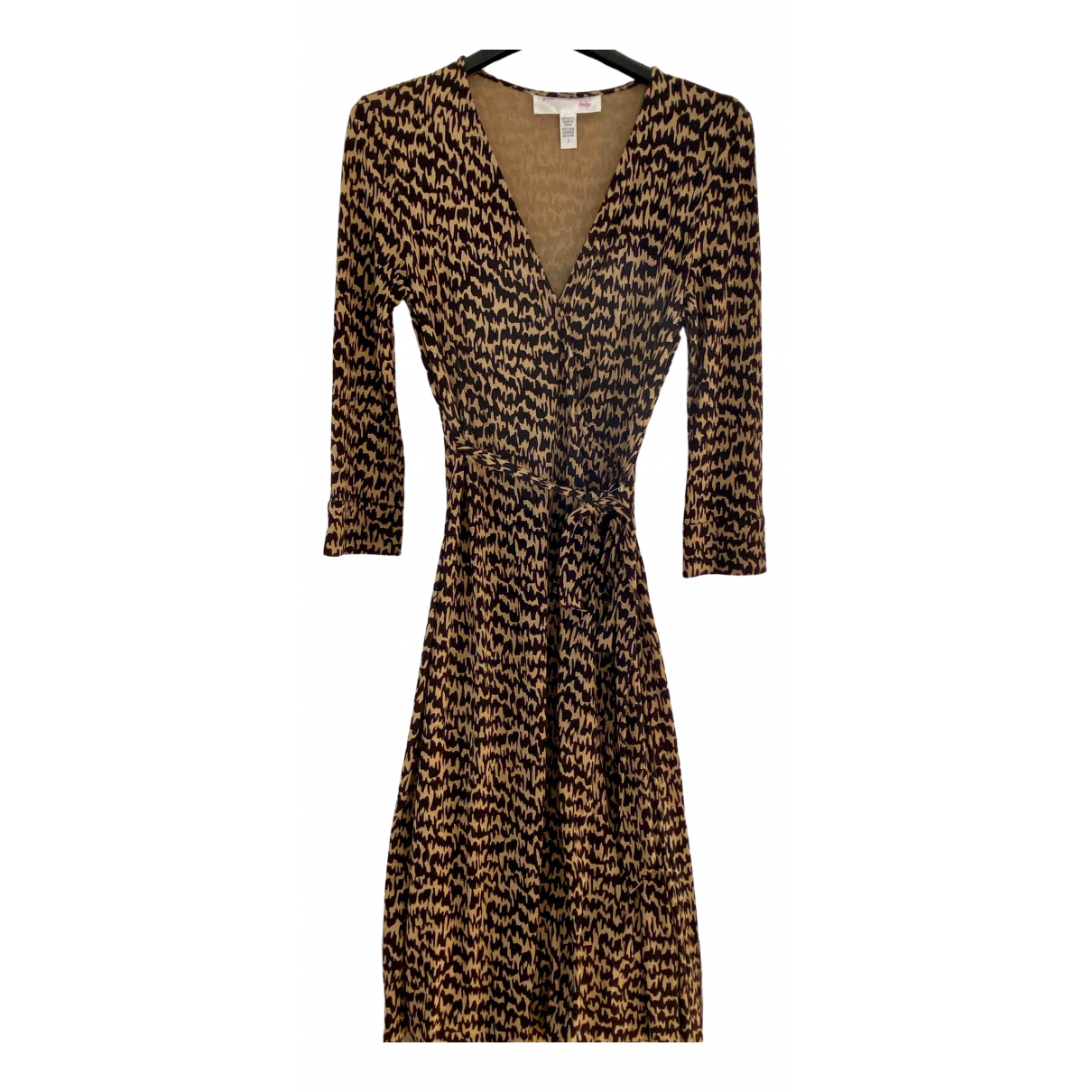 Diane Von Furstenberg \N Brown Silk dress for Women 6 US