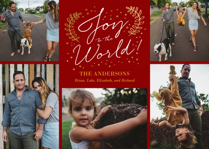 Holiday Photo Cards 5x7 Cards, Standard Cardstock 85lb, Card & Stationery -Sent with Joy