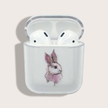 Rabbit Pattern Clear Airpods Case