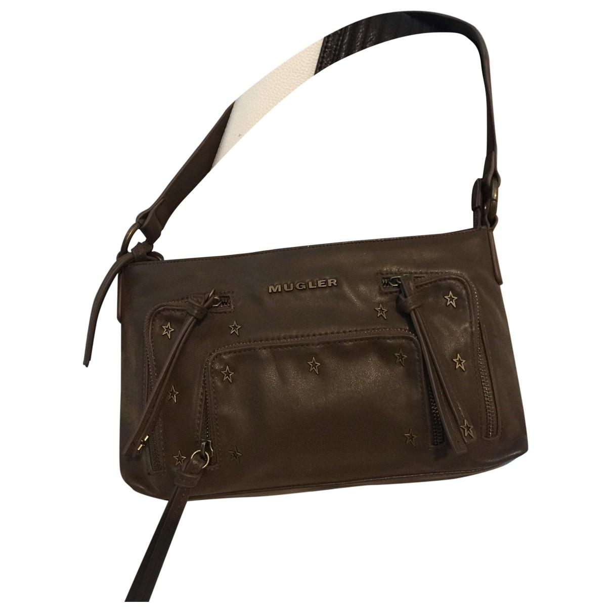 Mugler \N Brown Leather handbag for Women \N