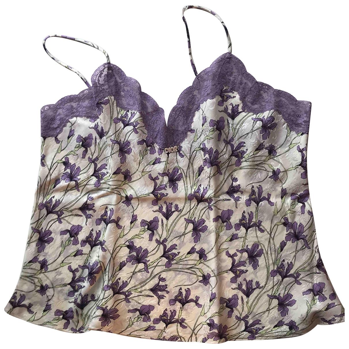Dior \N Purple Silk  top for Women 42 FR