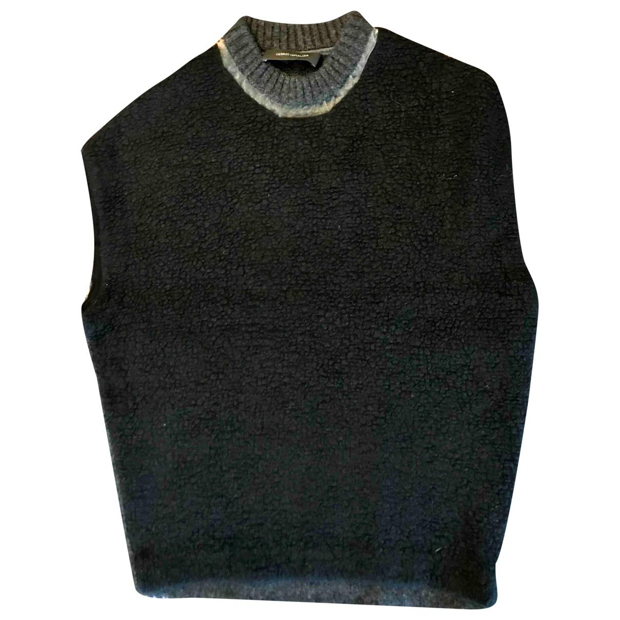 Cedric Charlier - Pull   pour femme en laine - noir