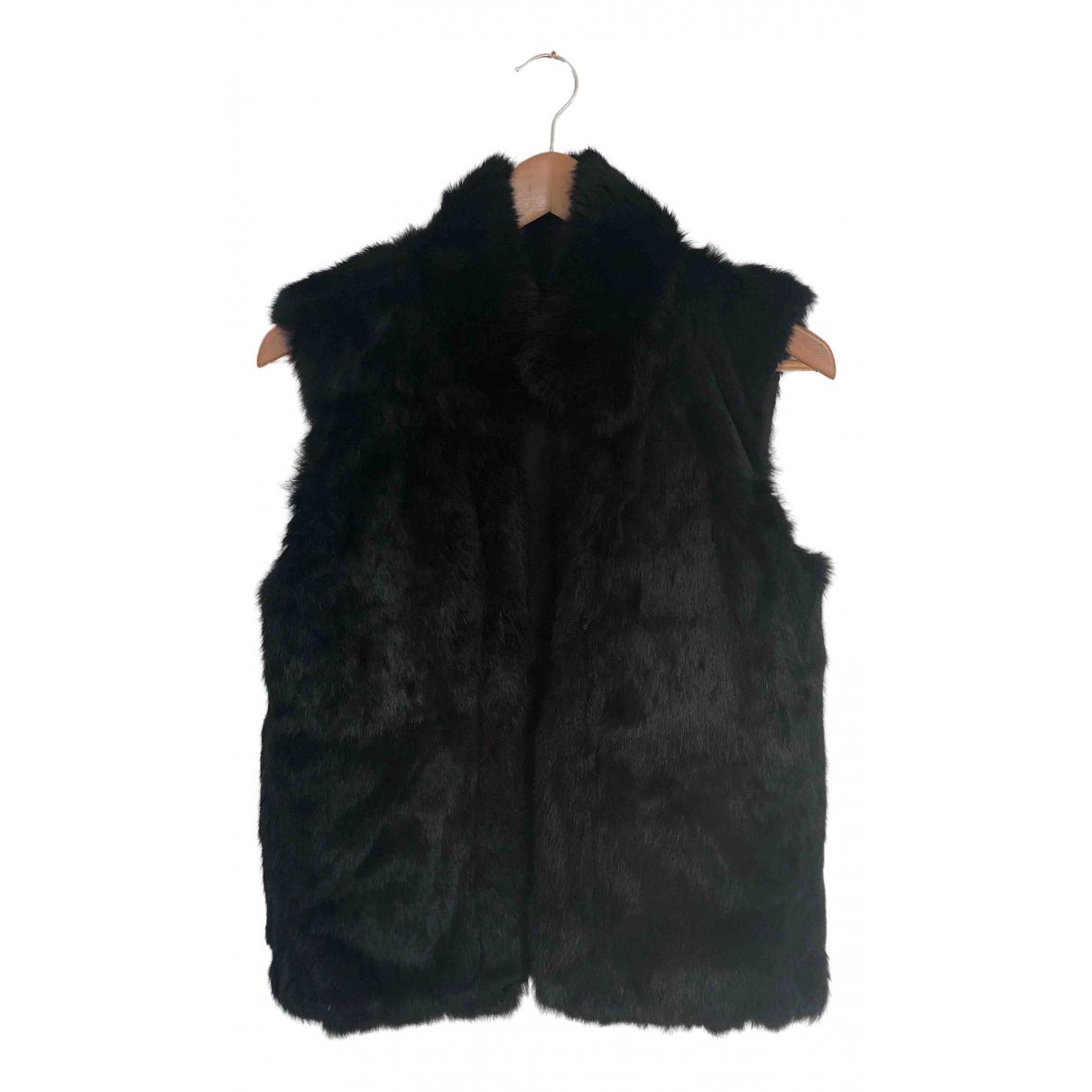 - Robe   pour femme en fourrure - noir